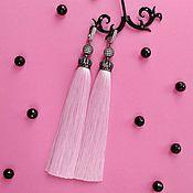 Украшения handmade. Livemaster - original item Premium Lux Flamingo brush earrings