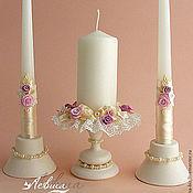 """Свадебный салон ручной работы. Ярмарка Мастеров - ручная работа Свадебные свечи и подсвечники """"Апрель"""". Handmade."""
