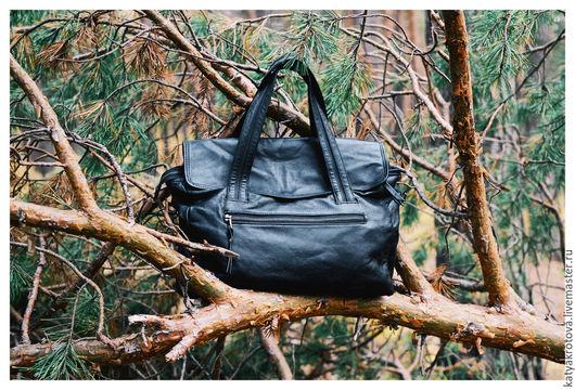Спортивные сумки ручной работы. Ярмарка Мастеров - ручная работа. Купить Сумка Бэзил. Handmade. Черный, черная сумка, текстиль