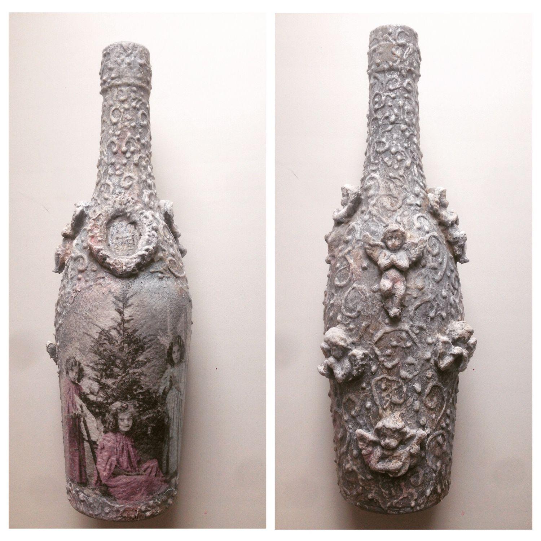 Декор  бутылки, Оформление бутылок, Москва,  Фото №1