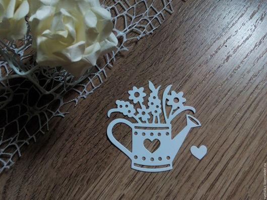 Открытки и скрапбукинг ручной работы. Ярмарка Мастеров - ручная работа. Купить !Вырубка для скрапбукинга Лейка садовая -дизайнерский картон. Handmade.