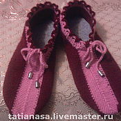 """Обувь ручной работы. Ярмарка Мастеров - ручная работа домашние тапочки """"неженки"""". Handmade."""