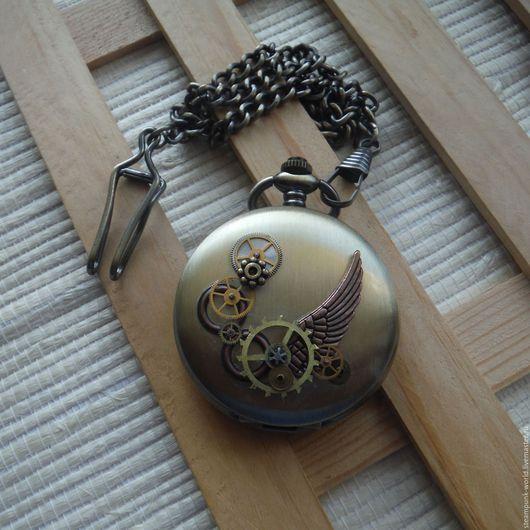 """Часы ручной работы. Ярмарка Мастеров - ручная работа. Купить Карманные часы """"Хроника времени"""" Стимпанк/Steampunk. Handmade. Карманные часы"""