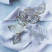 Свадебный салон ручной работы. Ярмарка Мастеров - ручная работа Шпильки листики. Handmade.