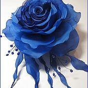 """Свадебный салон ручной работы. Ярмарка Мастеров - ручная работа брошь из ткани  роза  """"Бриз"""". Handmade."""