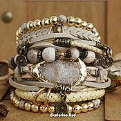 Украшения handmade. Livemaster - original item BOHO-chic style bracelet with quartz