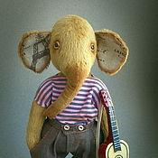 Мягкие игрушки ручной работы. Ярмарка Мастеров - ручная работа Слон Семён. Handmade.