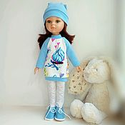 Куклы и игрушки handmade. Livemaster - original item Clothing for Paola Reina doll: knitted dress and hat. Handmade.