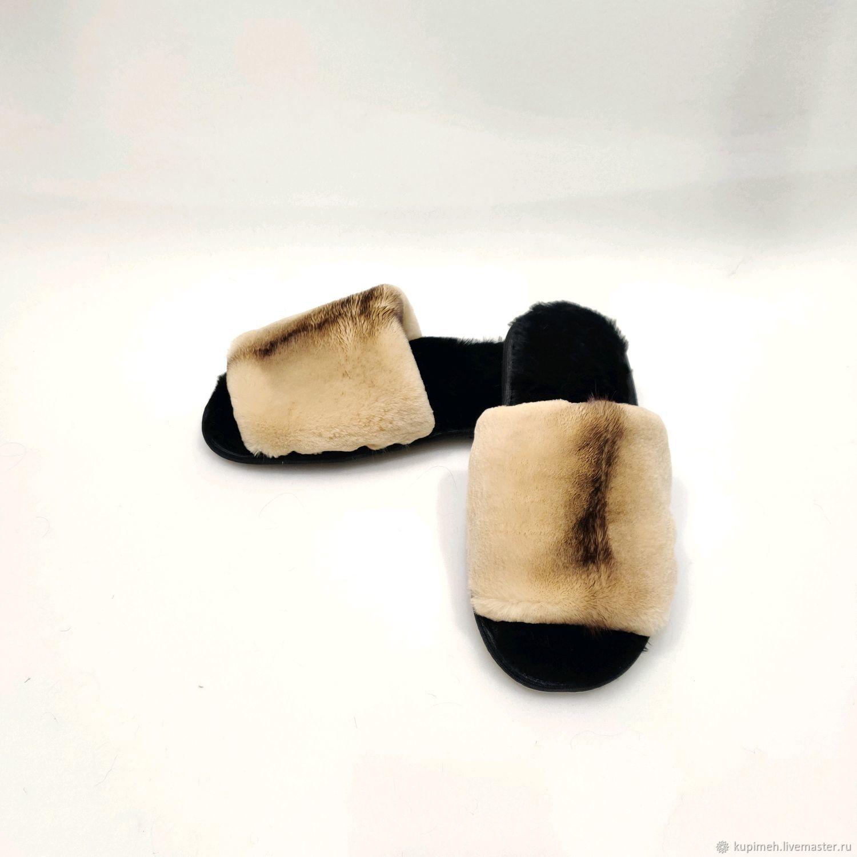 Women's Slippers made of shorn Mink, Slippers, Nalchik,  Фото №1