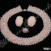 Украшения ручной работы. Ярмарка Мастеров - ручная работа Комплект РОЗОВЫЙ ЛЕД (розовый кварц). Handmade.