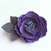 Украшения ручной работы. Ярмарка Мастеров - ручная работа Работа на заказ: Брошь из фоамирана Фиолетовый цветок. Handmade.
