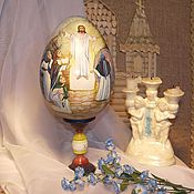 Сувениры и подарки handmade. Livemaster - original item Easter egg painting the Resurrection of Christ. Handmade.