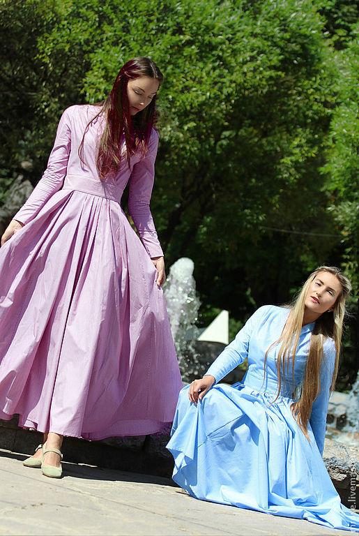 Платья ручной работы. Ярмарка Мастеров - ручная работа. Купить Платье Ассоль. Handmade. Коралловый, платье в пол, хлопковое платье