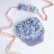 Комплекты одежды ручной работы. Ярмарка Мастеров - ручная работа Комплект для фотосессий новорожденных GreyBlue. Handmade.