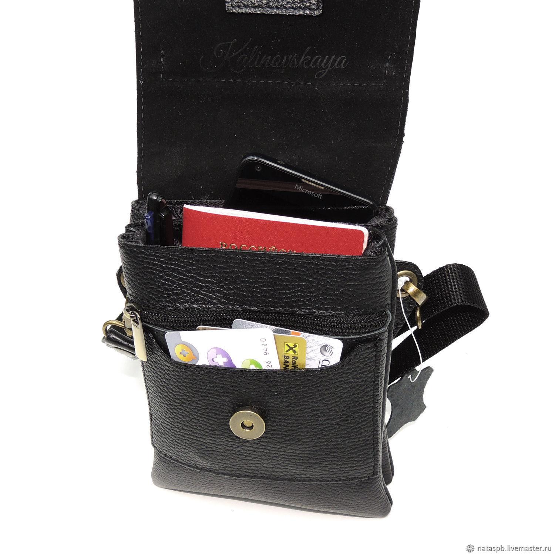 9c02ce2cc4d5e Men's Bags handmade. Men's bag leather black inter. Natalia Kalinovskaya.  My Livemaster.