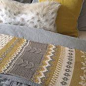 """Аксессуары handmade. Livemaster - original item Scarf knitted with Norwegian patterns """"Autumn Leaves"""". Handmade."""