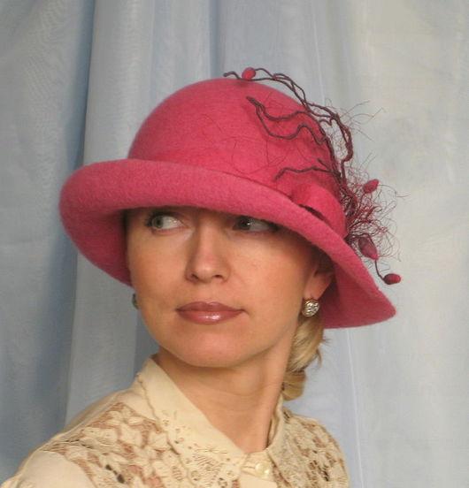 """Шляпы ручной работы. Ярмарка Мастеров - ручная работа. Купить Дамская шляпка """"Соблазнительная"""" из коллекции """"Холли&qu. Handmade. Шляпка"""