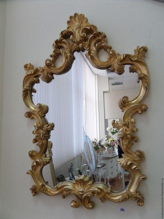 """Зеркала ручной работы. Ярмарка Мастеров - ручная работа. Купить Зеркало """"Gold"""". Handmade. Золотой, золотой цвет, Декор, подарок"""