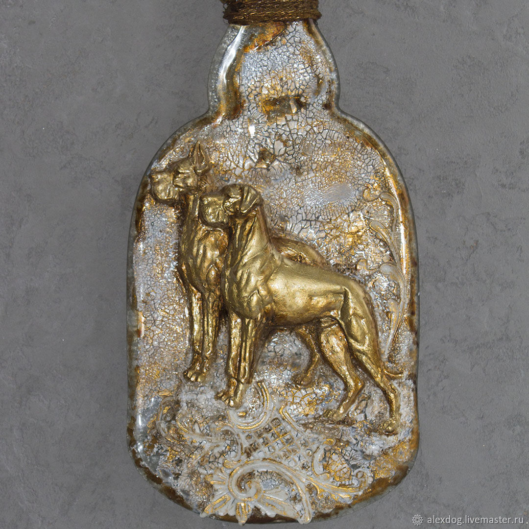 ' Great Dane ' - decorative panel on the bottle, Panels, Moscow,  Фото №1