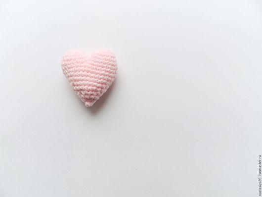 Подарки для влюбленных ручной работы. Ярмарка Мастеров - ручная работа. Купить Вязаное сердечко. Handmade. Бледно-розовый, вязаное сердце