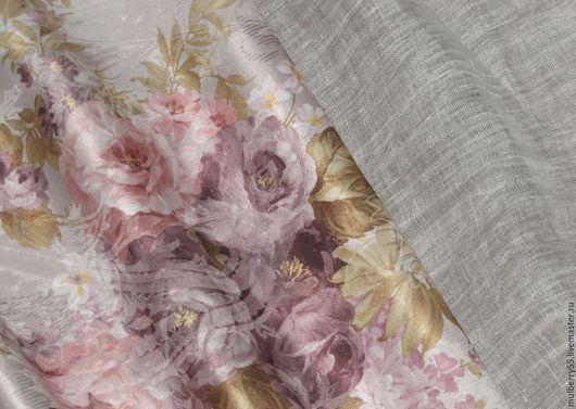 Текстиль, ковры ручной работы. Ярмарка Мастеров - ручная работа. Купить Ткань и тюль (Германия). Handmade. Шторы для гостиной, сиреневый