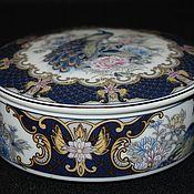 Винтаж handmade. Livemaster - original item Beautiful round porcelain box