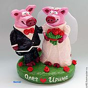 Куклы и игрушки ручной работы. Ярмарка Мастеров - ручная работа Фигурки на свадебный торт. Handmade.