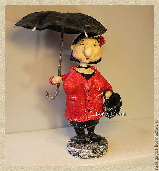 Коллекционные куклы ручной работы. Ярмарка Мастеров - ручная работа. Купить Тётя Роза...)). Handmade. Ярко-красный, харизма