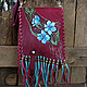 Handbags handmade. Livemaster - handmade. Buy Bag leather 'Daffodils'.Leather, flowers, burgundy, bag handmade, gifts for women