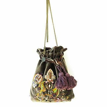 Сумки и аксессуары ручной работы. Ярмарка Мастеров - ручная работа Драгоценная сумочка из бархата с вышивкой. Handmade.