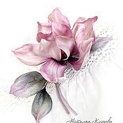 Украшения handmade. Livemaster - original item flower brooch. Brooch made of magnolia silk