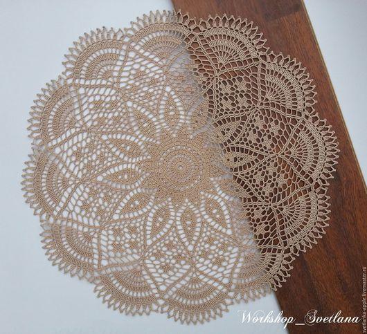 Текстиль, ковры ручной работы. Ярмарка Мастеров - ручная работа. Купить Салфетка. Handmade. Бежевый, москва, Идея для подарка, кружево