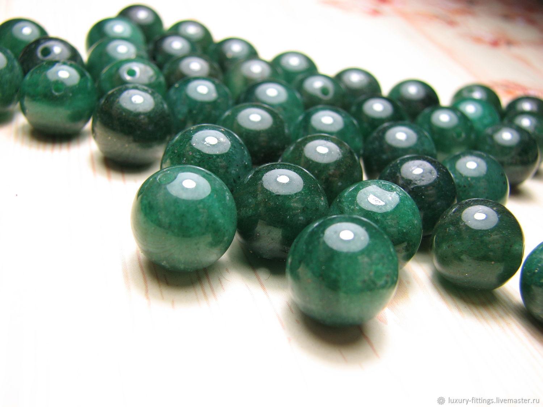 Aventurine green 10 mm, Beads1, Moscow,  Фото №1