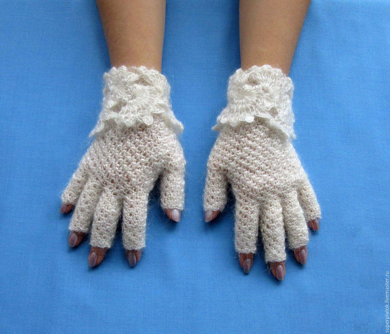 Вязания варежек без пальцев крючком