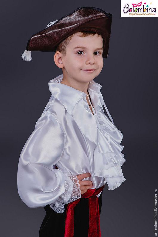 Детские карнавальные костюмы ручной работы. Ярмарка Мастеров - ручная работа. Купить Пиратская рубашка. Handmade. Белый, пиратская рубашка