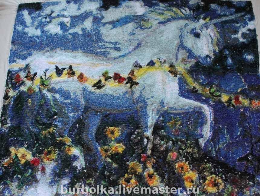 """Вышитая картина """"Лунный единорог"""", Картины, Гомель,  Фото №1"""