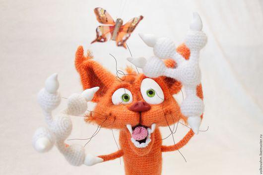 Игрушки животные, ручной работы. Ярмарка Мастеров - ручная работа. Купить рыжий кот Аристарх Второй. Handmade. Рыжий, пряжа