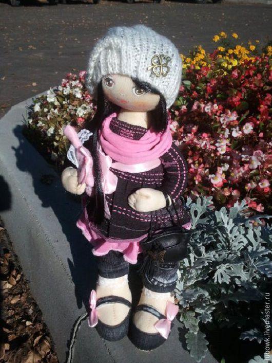 Куклы тыквоголовки ручной работы. Ярмарка Мастеров - ручная работа. Купить Текстильная кукла Берта. Handmade. Розовый