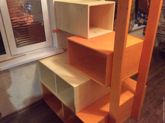 Детская ручной работы. Ярмарка Мастеров - ручная работа. Купить Лестница стеллаж комод. Handmade. Комбинированный, полки