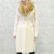Одежда ручной работы. Ярмарка Мастеров - ручная работа Кашемировое пальто вязаное с воротником Glamour. Handmade.