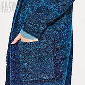 Одежда ручной работы. Ярмарка Мастеров - ручная работа Кардиган синий с капюшоном Кардиган синий Кардиган синий. Handmade.