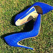 Обувь ручной работы. Ярмарка Мастеров - ручная работа Туфли из натурального питона Sea. Handmade.