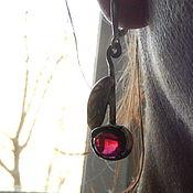 """Украшения ручной работы. Ярмарка Мастеров - ручная работа серебряные серьги """"Вишни"""" с гранатами. Handmade."""