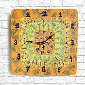 Для дома и интерьера handmade. Livemaster - original item ETHNO clock, wall clock handmade. Handmade.