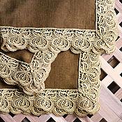 Для дома и интерьера ручной работы. Ярмарка Мастеров - ручная работа Салфетка из льна, 55х55 см. Handmade.
