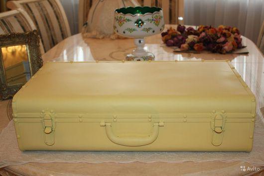 Винтажные предметы интерьера. Ярмарка Мастеров - ручная работа. Купить Винтажный чемодан, шебби, Германия. Handmade. Лимонный, Стиль шебби