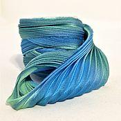 Материалы для творчества handmade. Livemaster - original item Ribbon silk Shibori N 132. Handmade.