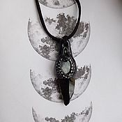Фен-шуй и эзотерика handmade. Livemaster - original item Black Obsidian Amulet Jon Snow. Handmade.