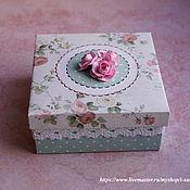 Сувениры и подарки ручной работы. Ярмарка Мастеров - ручная работа Коробочка для подарка Нежность. Handmade.