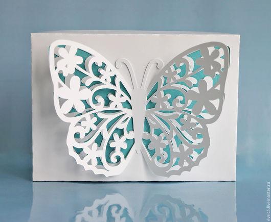 """Подарочная упаковка ручной работы. Ярмарка Мастеров - ручная работа. Купить """"Бабочка"""" коробка упаковка. Handmade. Комбинированный, упаковка подарочная"""